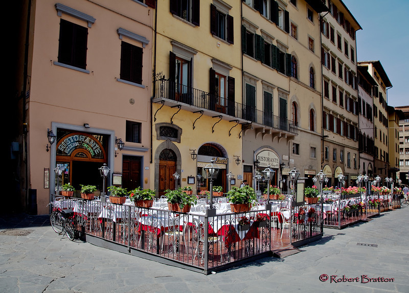 Typical Outdoor Restaurant in Florence