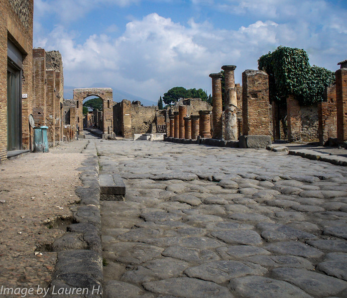 The cobble streets of Pompeii