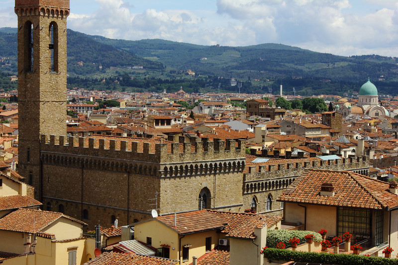 Florence from the tower in Palazzo Vecchio.
