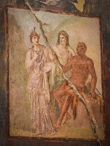 Herculaneum, College Of The Augustini, fresco detail