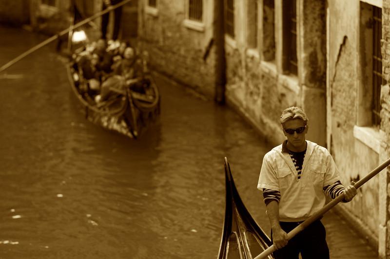 Gondola in Sepia, Venezia