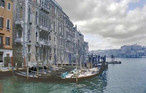Grand canal Venice Italy - Jan 1979