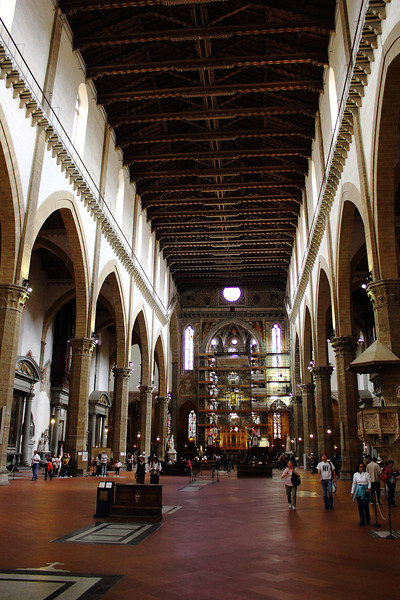 Inside Santa Croce Church, Florence.