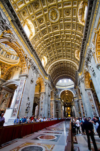 Central nave St. Peter's Basilica Vatican City, Italy