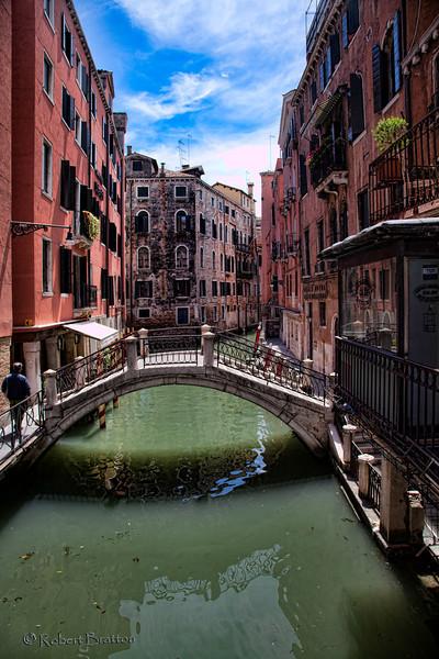 Arched Bridge in Venice