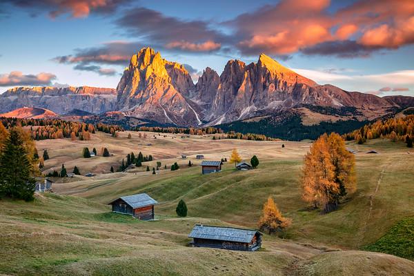 Seiser Alm, Dolomites.