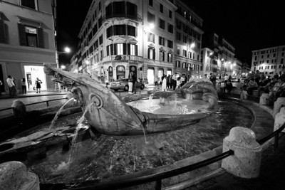 Fountain of the Old Boat Piazza di Spagna Rome, Italy