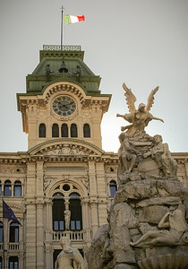 Trieste: City Hall and Fountain of The Four Continents