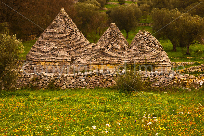 Abandoned Trulli in the field