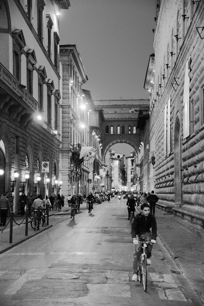 A Florence Street at Night