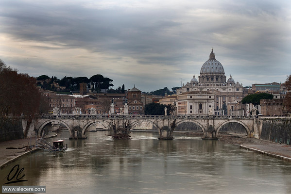 San Pietro e il Tevere