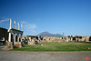 This is the main square in Pompeii. It was once surrounded by a two-story colonade, as seen on the left.<br /> IMG_1069.JPG