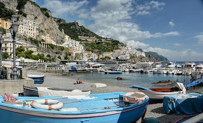On the beach at Amalfi