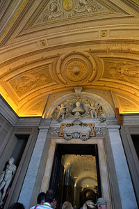 Ceilings in the Vatican.  Not a very good picture for photography, but shows the astounding art and work of the time