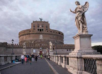 Castel Sant'Angelo and one of the statues on the approach road - Pointe Sant'Angelo