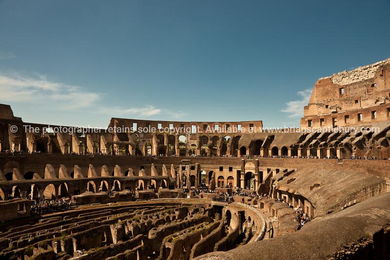 Colosseum interior, Rome. Italian images.