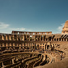 Colosseum interior, Rome. Italian images.