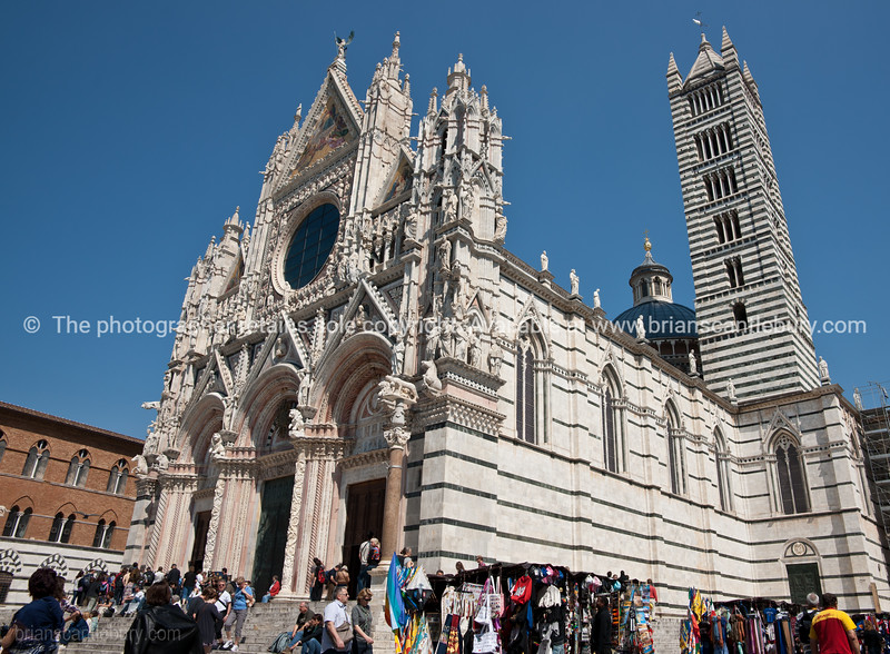 The Cathedral of Siena . Italian images.