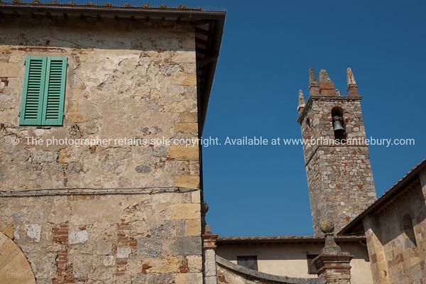 Abbadia architecture.Monteriggioni. Italian images.