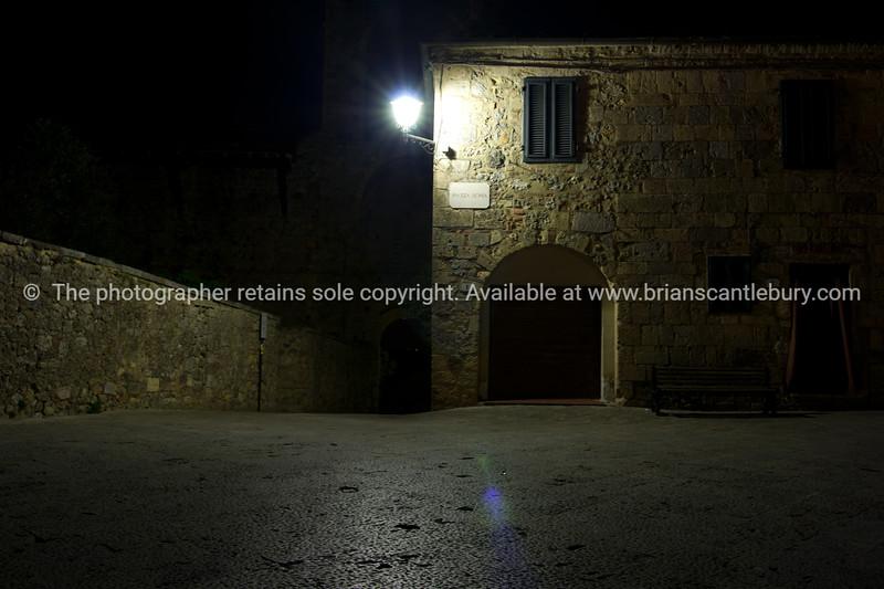 Inside Abbadia at night. Italian images.