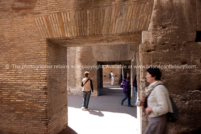 The Colosseum inside. Italian images.