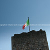 Italian flag over rampart. Italian images.