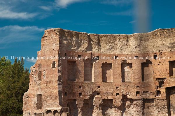 Trojans baths ruins, Rome. Italian Images.