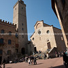Walled city, San Gimignano. Italian images.