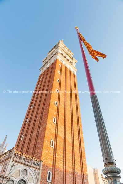 Campanile Tower in Saint Mark's Square Venice