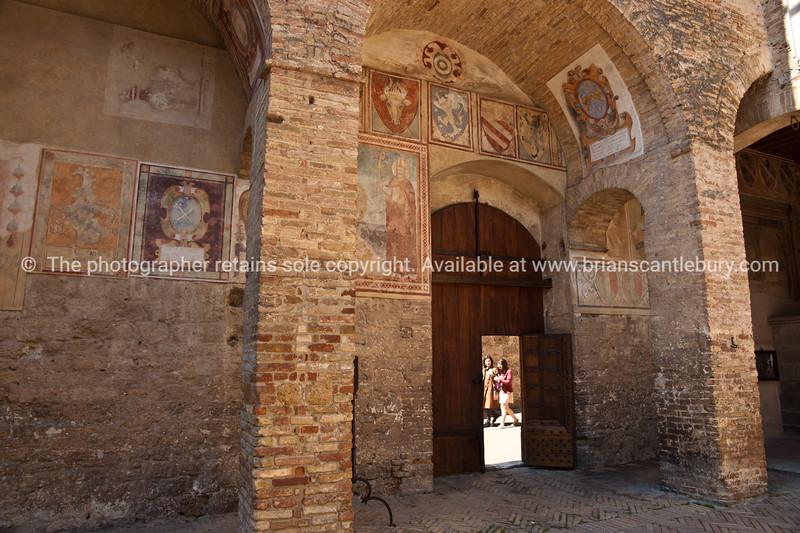 Inside Walled city, San Gimignano. Italian images.