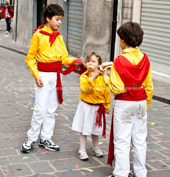 """Umbria, Italy, Gubbio on annually May 15 celebrates Festa dei Ceri.<br /> Umbria, Italy.<br /> Model released; no, for editorial & personal use. SEE ALSO:    <a href=""""http://www.blurb.com/b/2322683-spqr-italy"""">http://www.blurb.com/b/2322683-spqr-italy</a> and  <a href=""""http://www.blurb.com/b/2314371-gubbio-medieval-italy"""">http://www.blurb.com/b/2314371-gubbio-medieval-italy</a>"""
