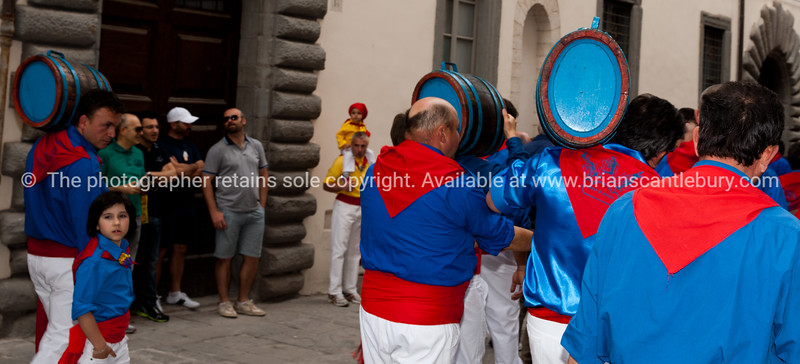 "Umbria, Italy, Gubbio on annually May 15 celebrates Festa dei Ceri.<br /> Umbria, Italy.<br /> Model released; no, for editorial & personal use. SEE ALSO:    <a href=""http://www.blurb.com/b/2322683-spqr-italy"">http://www.blurb.com/b/2322683-spqr-italy</a> and  <a href=""http://www.blurb.com/b/2314371-gubbio-medieval-italy"">http://www.blurb.com/b/2314371-gubbio-medieval-italy</a>"