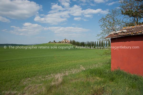 Tuscany rural scene. Italian images.