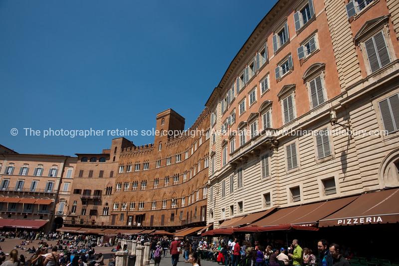 Piazza del Campo, Siena. Italian images.
