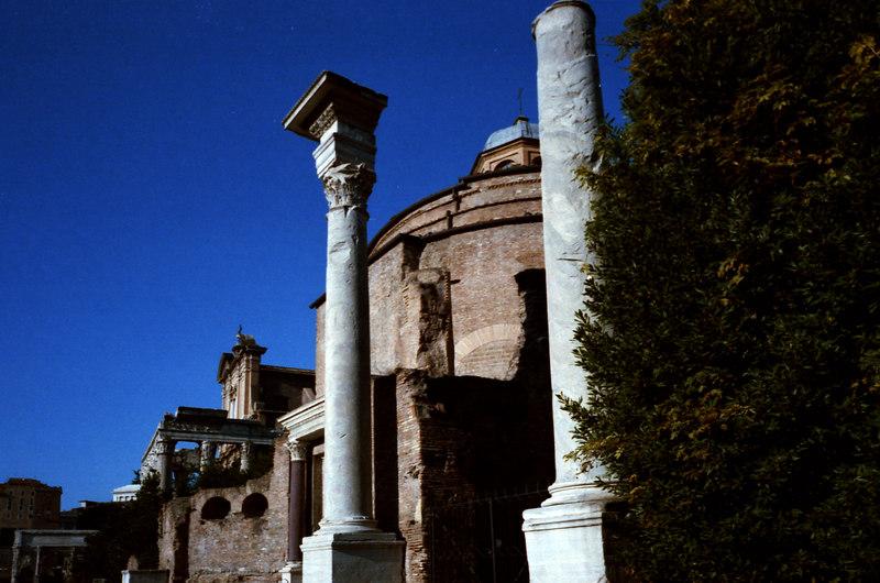 Church built behind a Roman Temple facade.