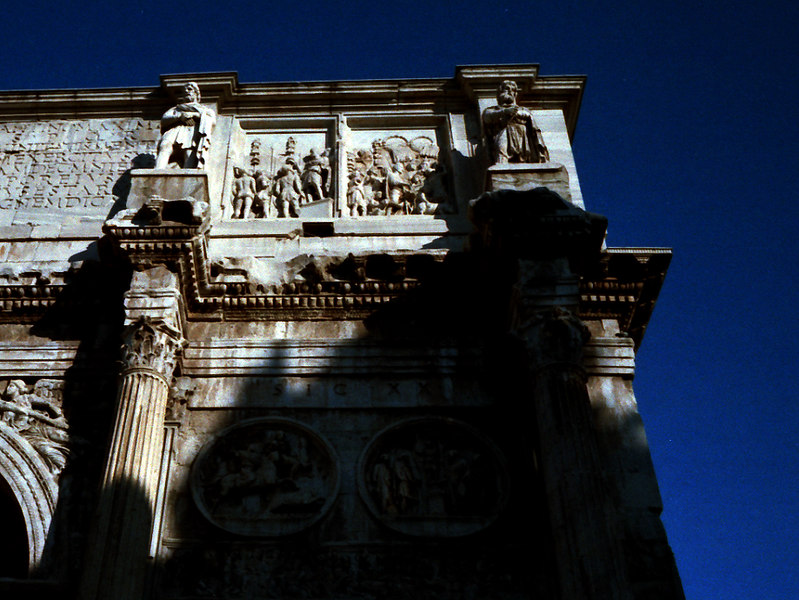 Detail of Arch in the Roman Forum