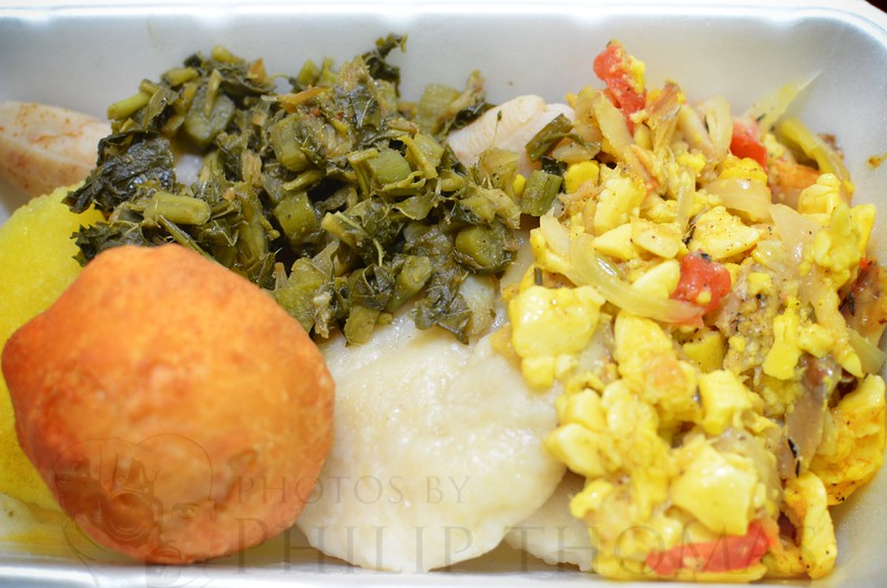 Now that's a Jamaican breakfast!
