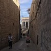 In the Armenian Quarter, walking east toward the center of the Old City