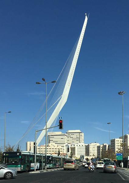 Entering Jerusalem: The Chords railway bridge by Santiago Calatrava
