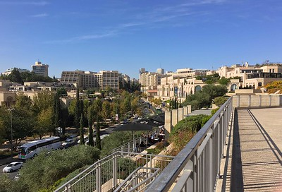 David Citadel Hotel (left). Mamilla Mall, right