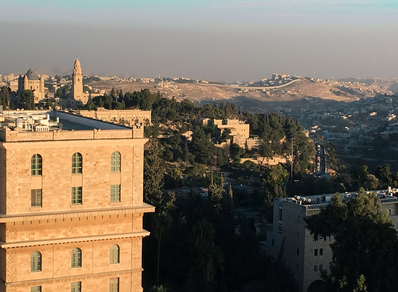 Jerusalem, looking southeast from YMCA bell tower