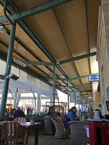Coffee shop under the shed of the first Jerusalem Railway Station