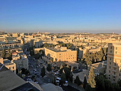 Jerusalem, looking north from YMCA bell tower