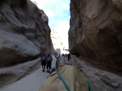 VIDEO of horse/carriage through canyon gorge- PETRA.