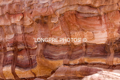 Colors in sand stone walls, PETRA.
