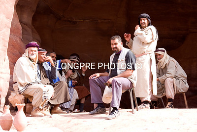 Men's group at Petra.