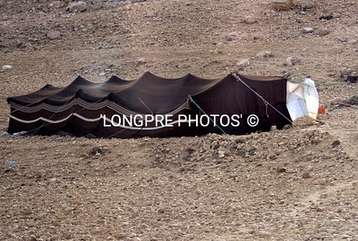 BEDOUIN tent in desert.  Outside Petra.
