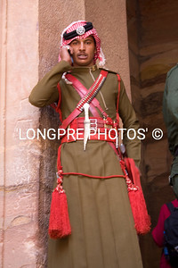 Jordanian GUARD at The Treasury.