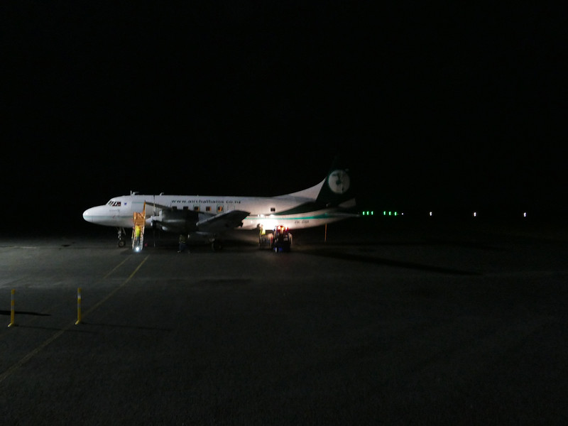 First Air Chathams flight to land with new runway lights