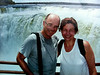 Lis y Gene getting wet at Iguazu Falls - Devil's Throat.
